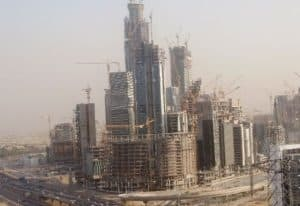 Panoramic view of KAFD under construction